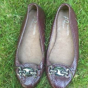 A2 by Aerosoles dark burgundy casual flats